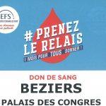 Affiche Don du Sang Palais des Congrès Béziers